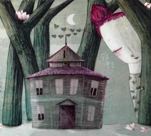 la carte postale présentation du projet, dessin Lola Roig